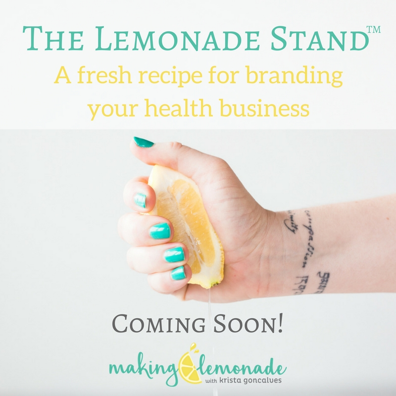 The Lemonade Stand - a fresh recipe for branding your health business