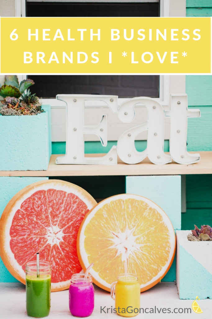 6 Health Business Brands I Love | Making Lemonade with Krista Goncalves