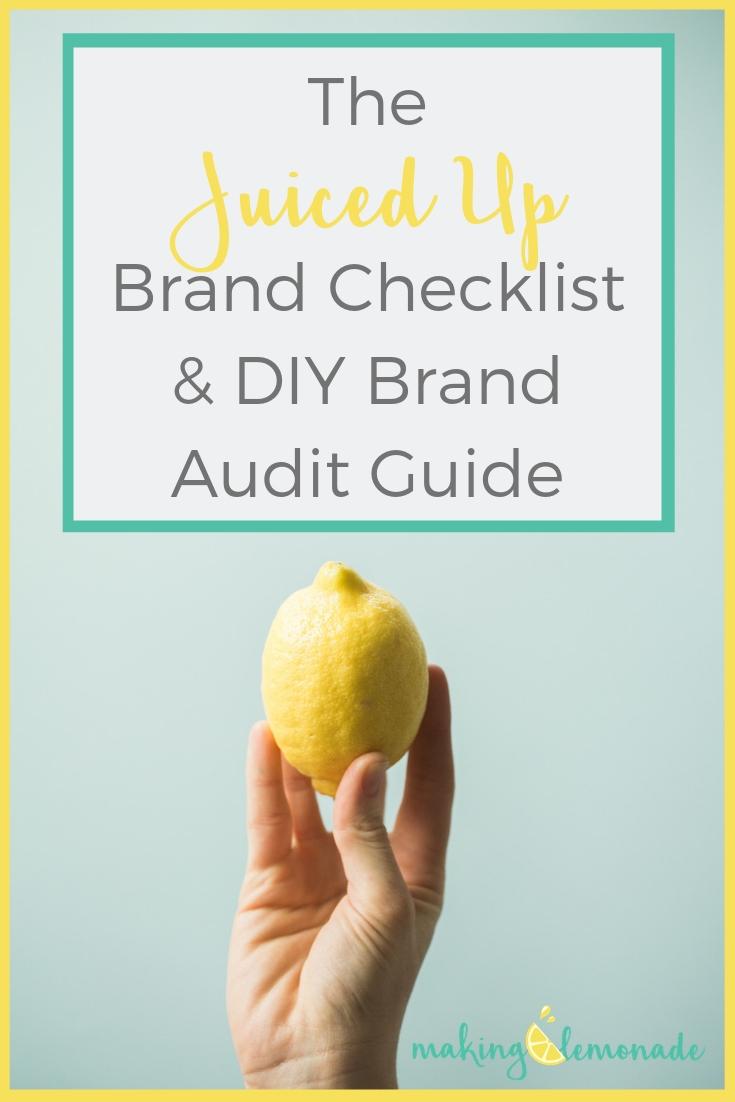 Juiced Up Brand Checklist & DIY Brand Audit