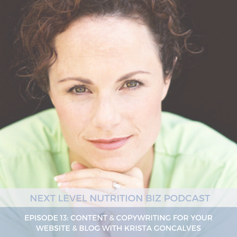 Next Level Nutrition Biz Podcast | Content & Copywriting for your website