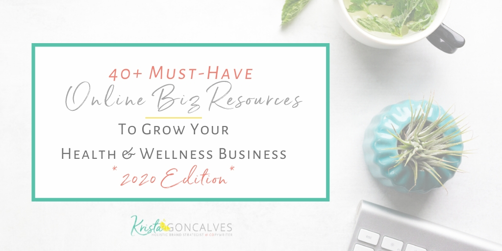 2020 Biz Resources List | Krista Goncalves Co
