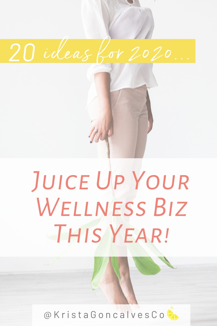 20 ideas for your health & wellness business in 2020 | Krista Goncalves Co.